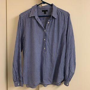 J. Crew gingham popover shirt